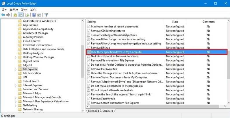 درایو های پنهان شده در ویندوز لپ تاپ